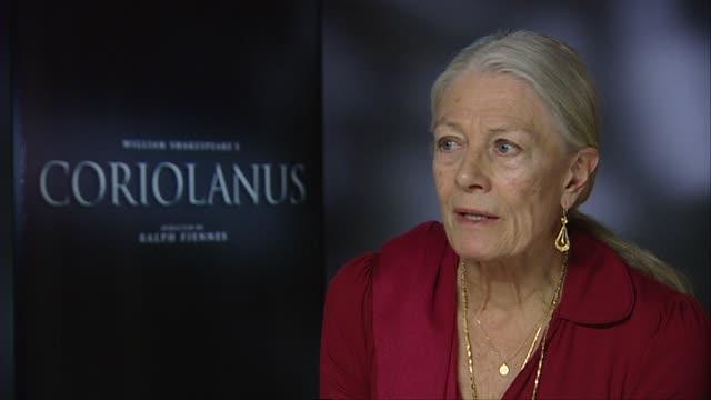 Vanessa Redgrave on Ralph Fiennes at the Coriolanus Interviews 61st Berlin International Film Festival at Berlin