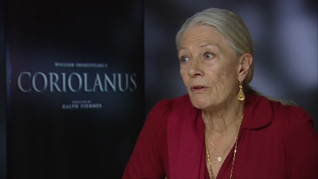 Vanessa Redgrave on Shakespeare being set in a modern time at the Coriolanus Interviews 61st Berlin International Film Festival at Berlin