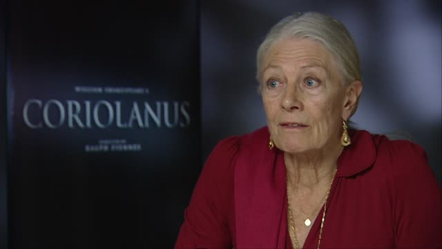 Vanessa Redgrave on the differences of acting Shakespeare on stage to screen at the Coriolanus Interviews 61st Berlin International Film Festival at...