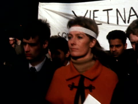 Vanessa Redgrave takes part in an anti Vietnam war demonstration through the streets of London
