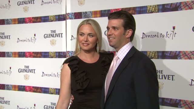 vanessa trump and donald trump jr at the 9th annual dressed to kilt charity fashion show at new york ny - vanessa haydon stock-videos und b-roll-filmmaterial