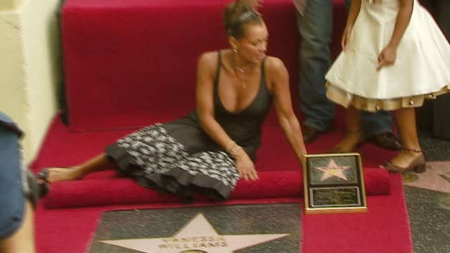 Vanessa Williams at the Dediction of Vanessa Williams' Walk of Fame Star at the Hollywood Walk of Fame in Hollywood California on March 19 2007