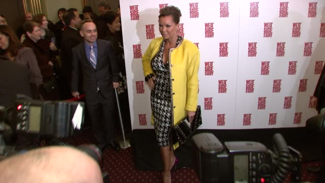 vanessa williams at the 'west side story' broadway opening night at new york ny - premiere stock videos & royalty-free footage