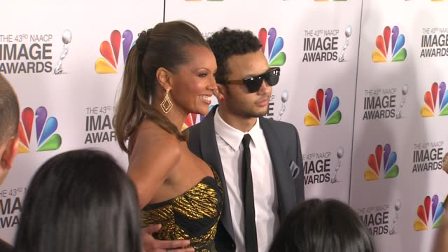 Vanessa Williams Devin Hervey at The 43rd NAACP Image Awards Arrivals on 2/17/12 in Los Angeles CA