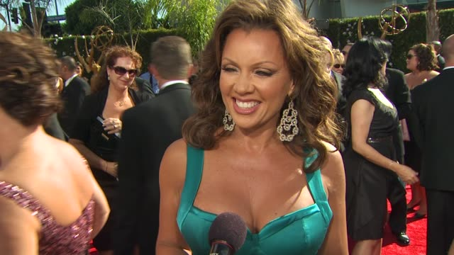 vanessa williams on being nominated experiencing the emmys how long it took to get ready her dress at the 61st annual primetime emmy awards arrivals... - annual primetime emmy awards stock-videos und b-roll-filmmaterial