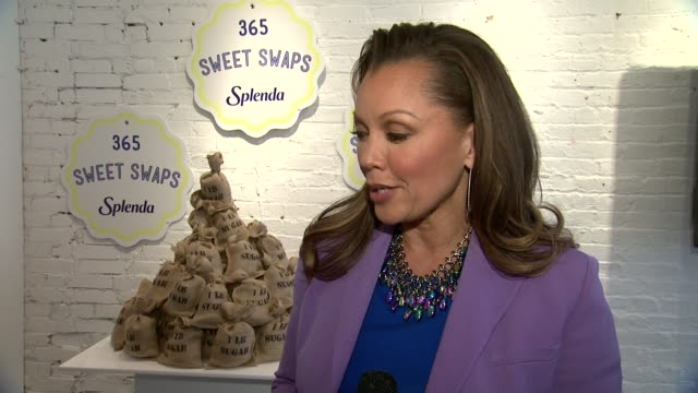 Vanessa Williams on how she swapped out her kids Valentines cookies this year On her favorite item in the sweets swap at Splenda's 365 Sweet Swap...