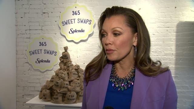 Vanessa Williams talks about being back on broadway at Splenda's 365 Sweet Swap initiative SPLENDA Brand Celebrates The 365 Sweet Swaps Initiative...