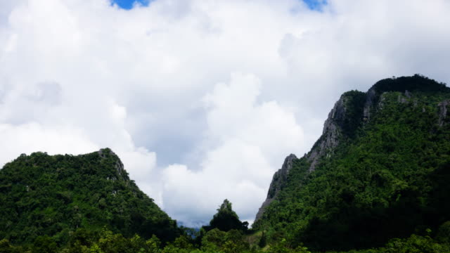 vang vieng with karst formation, laos - karst formation stock videos & royalty-free footage