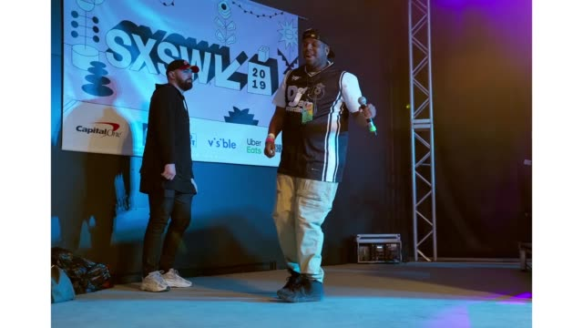 Vanilla Trill and MC Burn It Down perform onstage at DNES Marketing during the 2019 SXSW Conference and Festivals at Stubbs on March 15 2019 in...