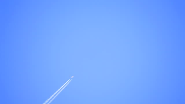 vapor trails and airplanes collage 1 - vapour trail stock videos & royalty-free footage