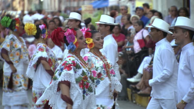 vaqueras and vaqueros dance in a mexican square - traditional ceremony stock videos & royalty-free footage