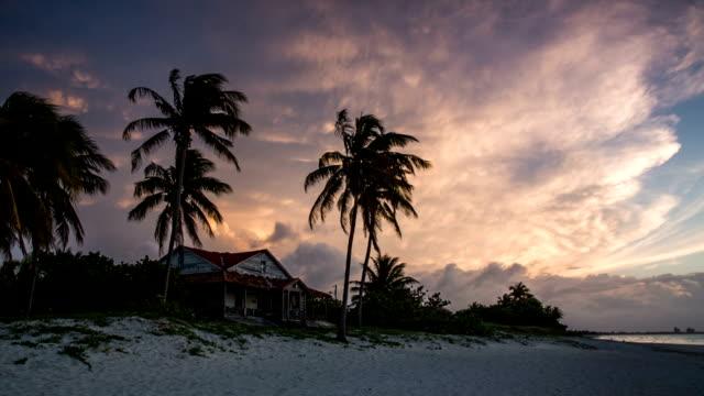 varadero beach at sunset, cuba - varadero beach stock videos and b-roll footage