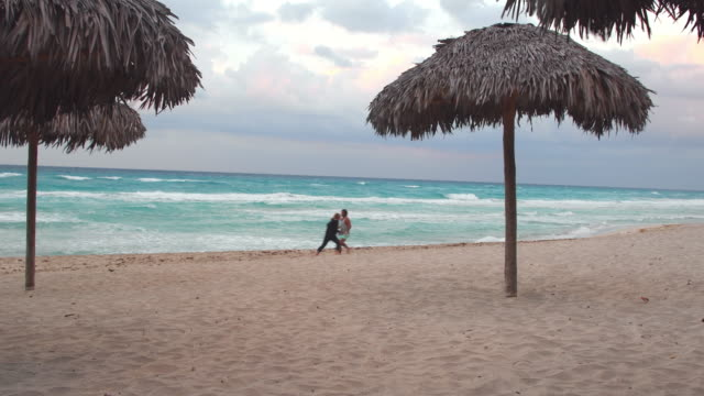 varadero beach during a bad weather, cuba - varadero stock videos and b-roll footage