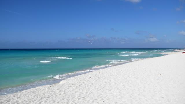 varadero beach, matanzas, cuba - varadero beach stock videos and b-roll footage