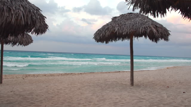 varadero beach on a bad weather day, cuba - varadero stock videos and b-roll footage