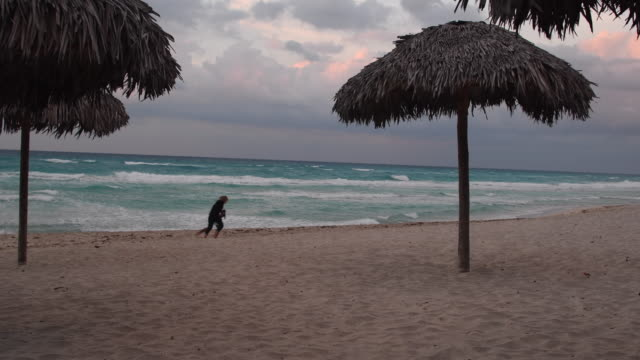 varadero is a resort town in the province of matanzas cuba and one of the largest resort areas in the caribbeanit is situated on the hicacos... - varadero stock videos and b-roll footage