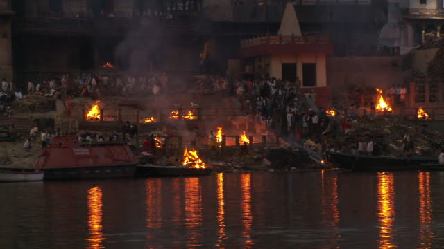 varanasi funeral pyre - funeral stock videos & royalty-free footage