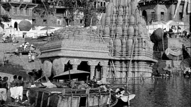 vídeos y material grabado en eventos de stock de 1925 varanasi, india - hacer la colada