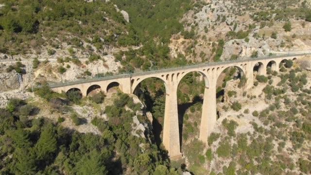 varda bridge, adana, turkey - viaduct stock videos & royalty-free footage