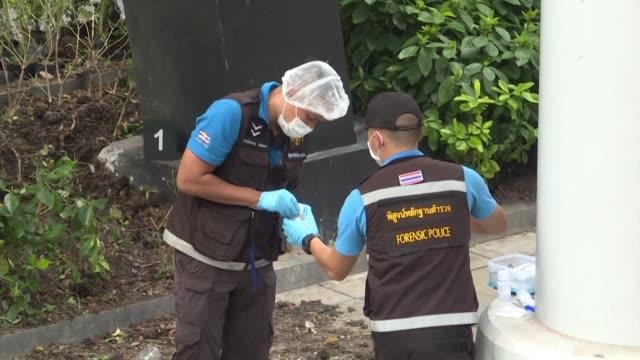 vídeos y material grabado en eventos de stock de varias bombas pequenas explotaron el viernes en bangkok en momentos en que la capital tailandesa alberga una cumbre regional en presencia del jefe de... - diplomacia
