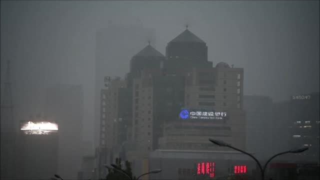vídeos y material grabado en eventos de stock de varias ciudades en regiones del noreste de china registraron este lunes niveles alarmantes de polucion atmosferica - noreste de china