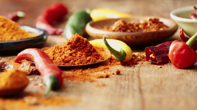 variation of spices and herbs - variation stock videos & royalty-free footage