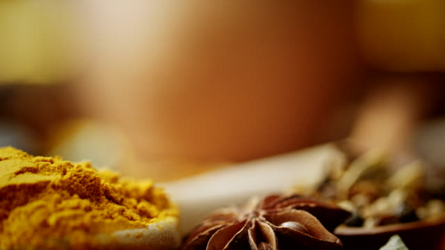 variation of spices and herbs - curry powder stock videos and b-roll footage