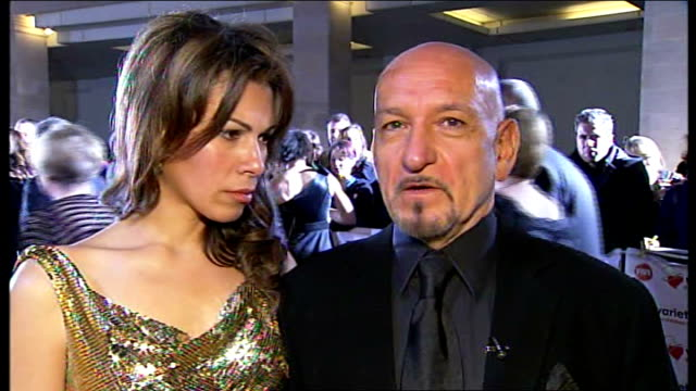 interview sir ben kingsley england london gir photography*** sir ben kingsley live 2way interview sot saying he supports the charity because it... - itv london tonight weekend stock videos & royalty-free footage