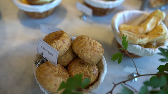 variety of baked products in display cabinet at bakery - display cabinet stock videos & royalty-free footage