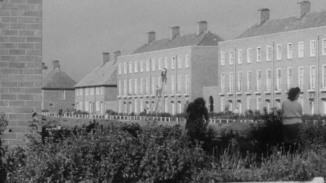 1951 montage variety of housing for various family sizes / united kingdom - 1951 stock videos & royalty-free footage