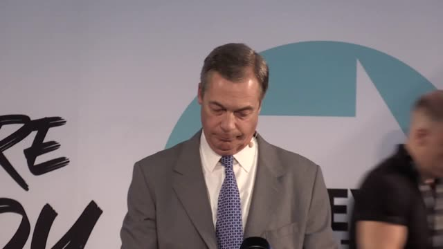 variety of shots from tuesday's brexit party rally in westminster. features party leader nigel farage and chairman richard tice. mr farage was... - brexit party stock videos & royalty-free footage