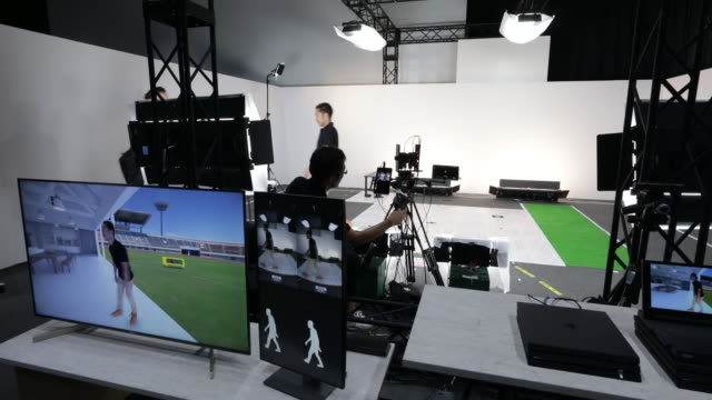variety of technologies displayed at sony corp.'s technology day in tokyo, japan, on wednesday, september 18, 2019. - sony stock-videos und b-roll-filmmaterial