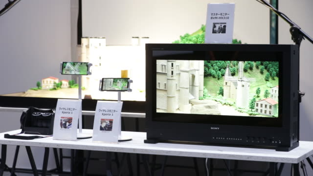 a variety of technologies displayed at sony corp's technology day in tokyo japan on wednesday september 18 2019 - digital animation stock videos & royalty-free footage