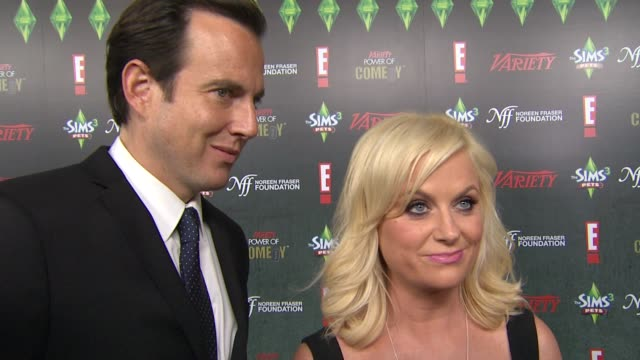 variety's 2nd annual power of comedy event, los angeles, ca, united states, 11/19/11 - ウィル アーネット点の映像素材/bロール