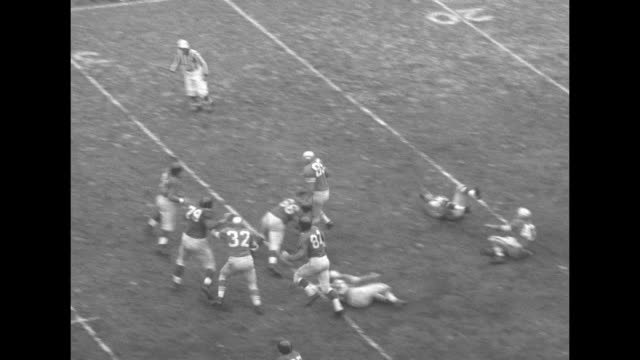 various action shots of football game between the san francisco 49ers and the new york giants at the polo grounds in new york city - nfc east stock videos & royalty-free footage