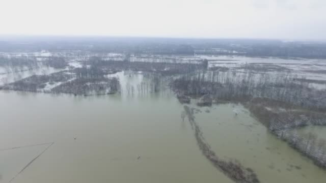 various aerial shots of flooded houses and stores after the overflowing of sava river, in banja luka, bosnia and herzegovina on march 20, 2018. many... - banja luka stock videos & royalty-free footage