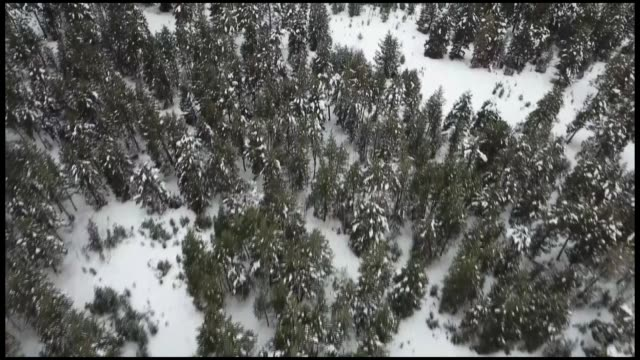various aerial shots of snowcovered areas in sarikamis district of eastern kars province on december 04 2018 - kars stock videos & royalty-free footage