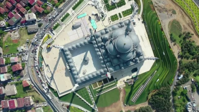 various aerial shots of the camlica mosque turkey's largest muslim place of worship in istanbul turkey on may 03 2019 - place of worship stock videos & royalty-free footage