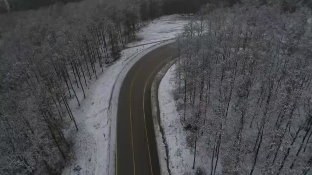various aerial shots of the snow covered forest in uludag mountain in the northwestern turkish province of bursa on october 25 2018 - uludag stock videos and b-roll footage