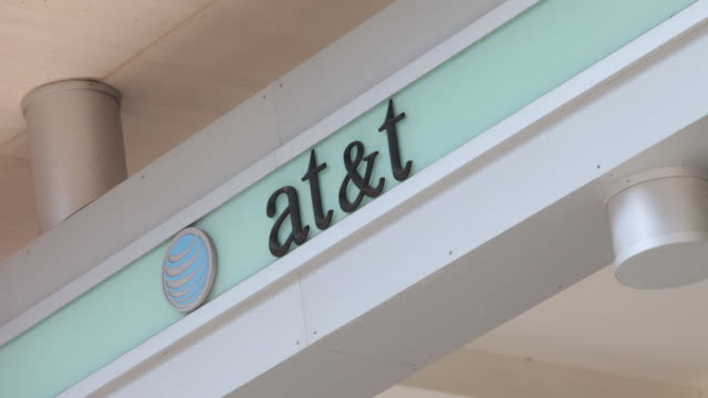 Various angles of ATT signage and store fronts
