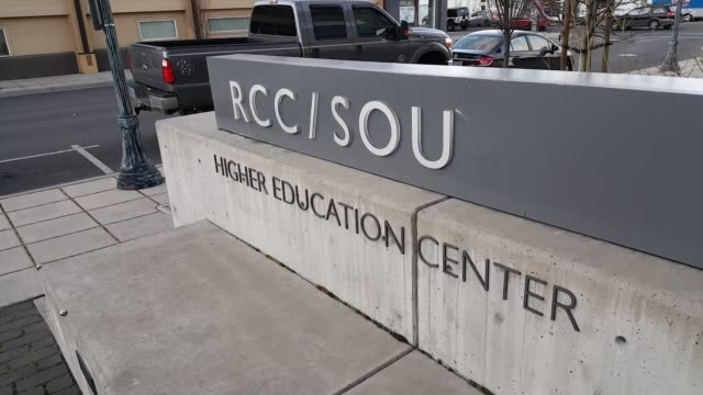 various broll shots of rogue community college in medford oregon officials at rogue community college say the oregon promise funds will not cover all... - gender stereotypes stock videos and b-roll footage