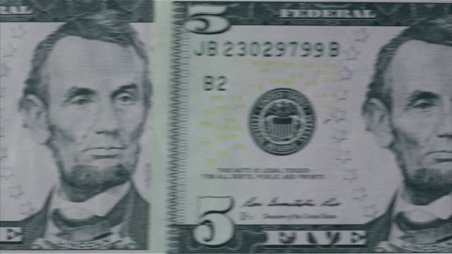 us currency $5 bill - five dollar bill stock videos & royalty-free footage