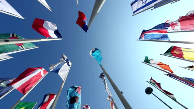 various country flags - united nations stock videos & royalty-free footage