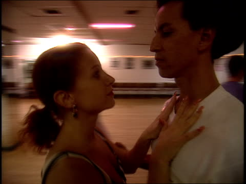 various couples in new york latin dance class - ballroom dancing stock videos & royalty-free footage