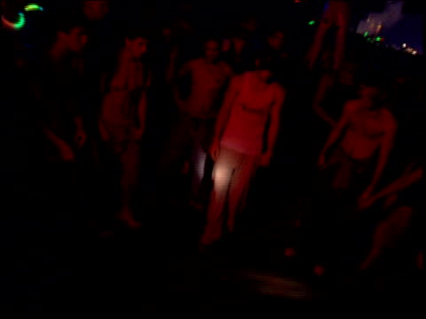 Various Crowds Dancing at the Woodstock 99 Rave in Rome New York