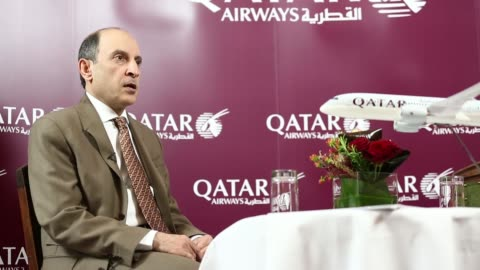 various cutaway shots akbar al baker, chief executive officer of qatar airways ltd, during a news conference in edinburgh, uk, on tuesday, march 25,... - cutaway video transition stock videos & royalty-free footage