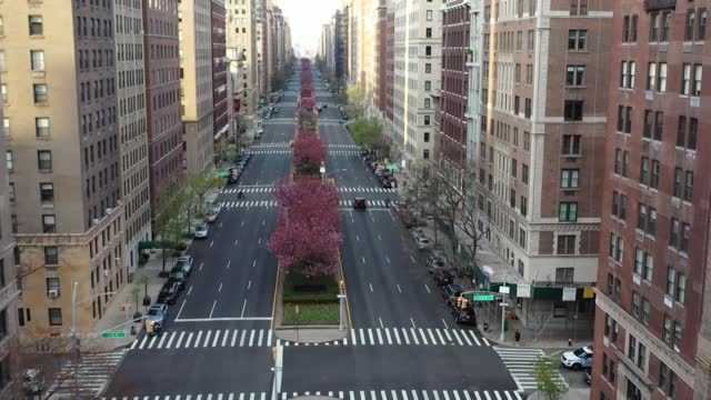 various drone shots of empty streets as the coronavirus has wreaked havoc on the world, hundreds of millions of people have been under lockdown to... - new york city stock videos & royalty-free footage