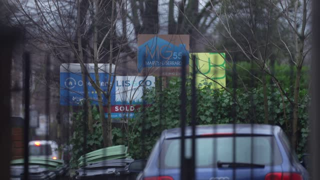 various estate agent, for sale boards are seen advertising properties for sale, let or sold as the uk mortgage approvals at 13 year high on january... - home ownership stock videos & royalty-free footage