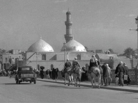 various exterior shots of mosques in baghdad 1954 - mosque stock videos & royalty-free footage