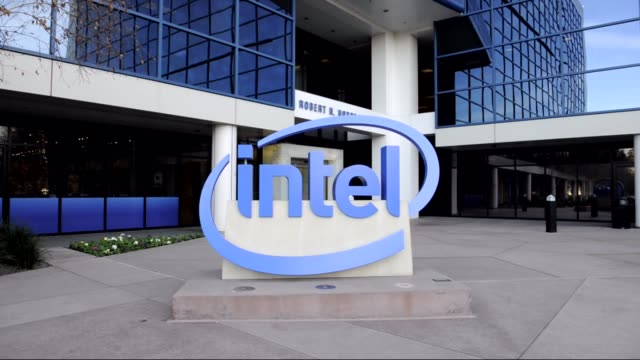 various exteriors and signage of intel headquarters / signage and logo intel headquarters on january 17, 2012 in san jose, california - headquarters stock videos & royalty-free footage